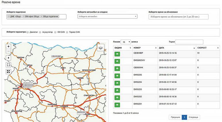 GPS система за наблюдение в реално време